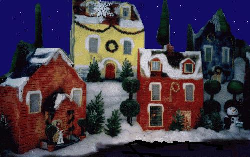 Winter Village Table top