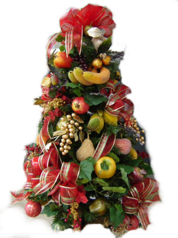 Christmas Fruit Decorations Part - 17: Decorated Royal Fruit Theme Christmas Tree 3ft