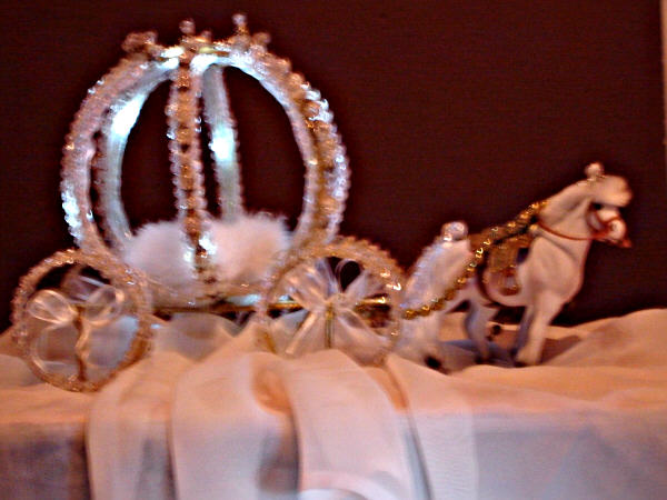 Princess carriage and coach centerpieces