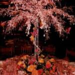 Crystal Tree in color wth accent decor and a floral base arrangement
