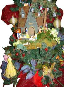 Fairytale Princess scene in a Princess Christmas Tree