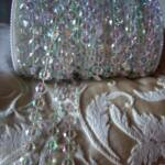 iridescent clear crystal garland