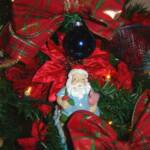 Tropical Santa Christmas Tree Ornaments