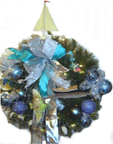 Nautical Theme Christmas Wreath