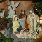 Nativity Scene Centerpiece Closeup