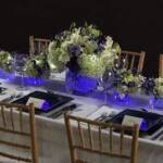 Lighted Accents on table setting