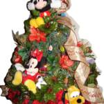 Holiday Tree with Mickey and Minnie